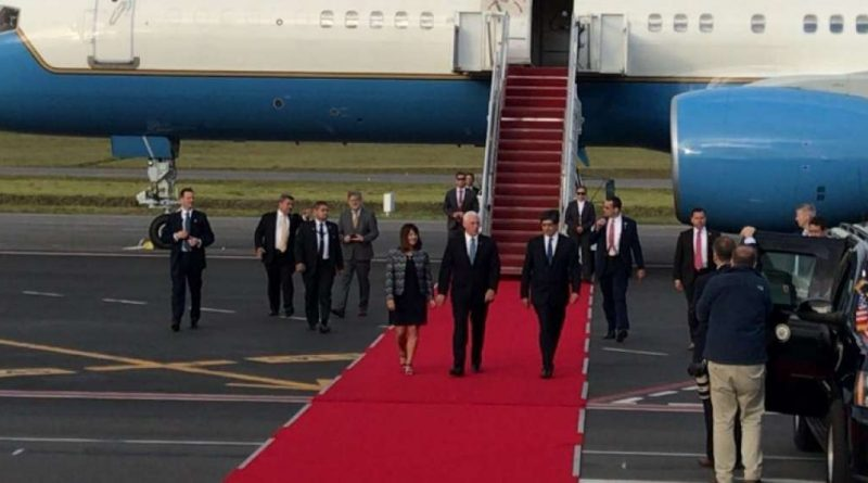 Ecuador recibe a un vicepresidente de Estados Unidos después de 60 años