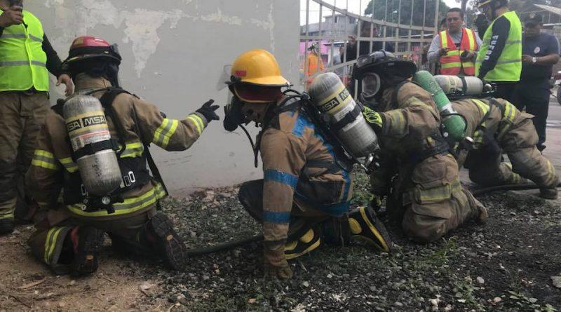 Se realizó simulacro de incendio en Milagro