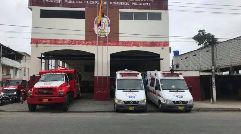Dos Ambulancias y una Motobomba se suman a la logística bomberil en Milagro