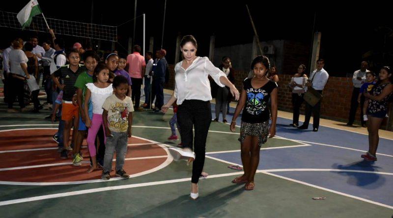 Sector Los Tamarindos cuenta con una nueva cancha múltiple