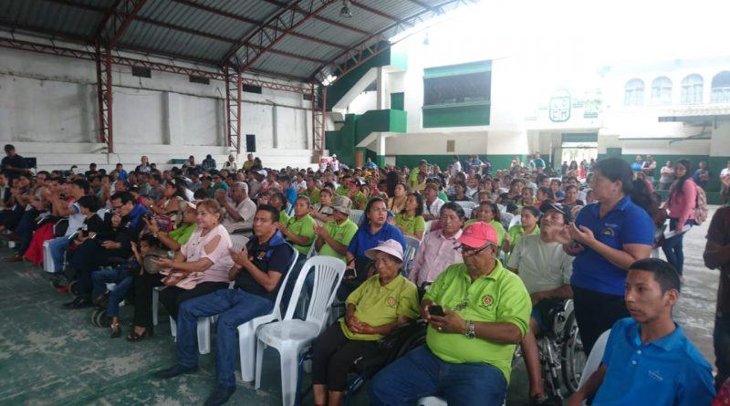 Encuentro Cantonal de Personas con Discapacidad en el Estadio Edmundo Valdez