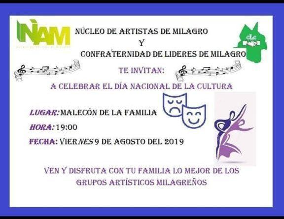 ARTISTAS MILAGREÑOS REALIZARÁ PROGRAMACIÓN POR EL MES DE LA CULTURA