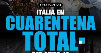 TODA ITALIA ENTRA EN CUARENTENA