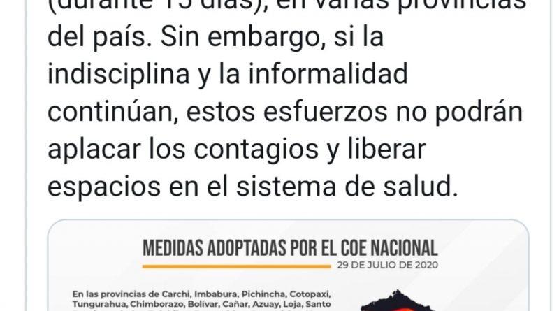 COE NACIONAL PROHIBE LA VENTA DE LICOR DE VIERNES A DOMINGO EN 18 PROVINCIAS