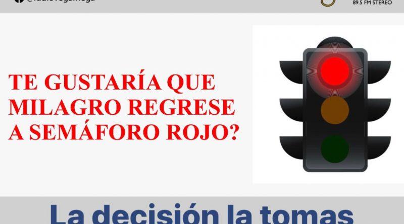 COE CANTONAL ANALIZA LA POSIBILIDAD DE REGRESAR A ROJO