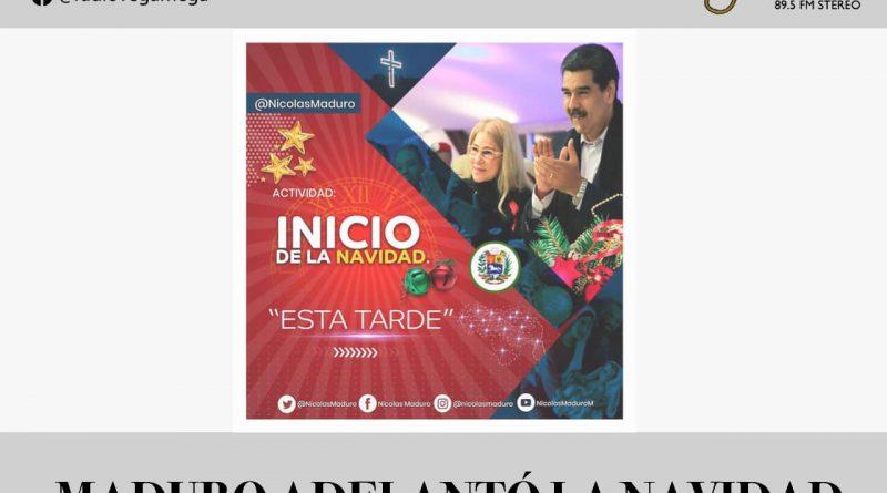 MADURO DECRETA QUE LA NAVIDAD COMIENZA EL 15 DE OCTUBRE