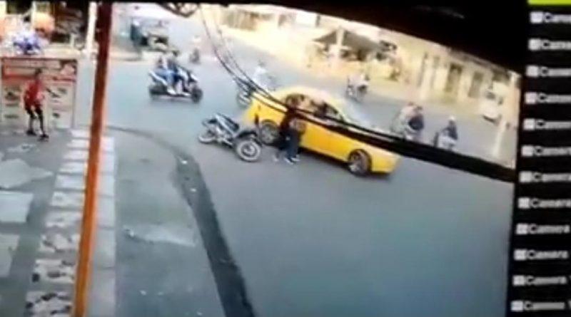 TAXISTA AGREDIDO POR MOTOCICLISTA