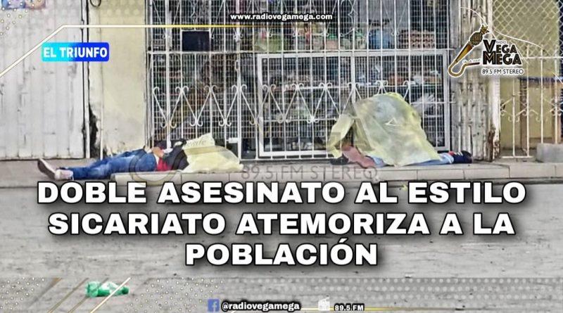 DOBLE ASESINATO AL ESTILO SICARIATO