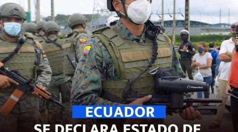 PRESIDENTE LASSO DECLARA ESTADO DE EMERGENCIA EL SISTEMA PENITENCIARIO