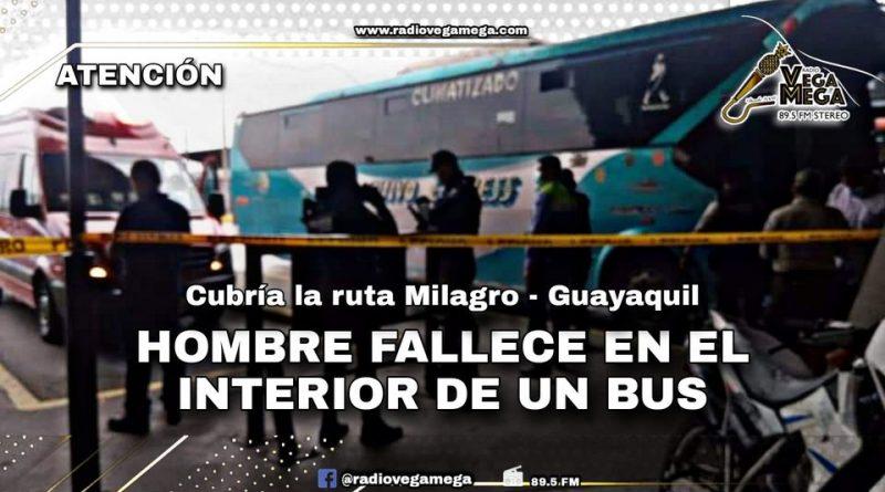 HOMBRE FALLECE EN EL INTERIOR DE UN BUS