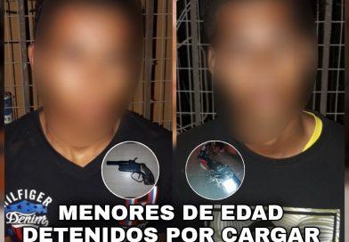 MENORES DE EDAD DETENIDOS POR TENER ARMA DE FUEGO