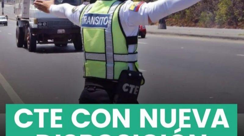 AGENTES DE LA CTE YA NO PODRÁN DETENER VEHÍCULOS AL AZAR
